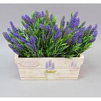 "Вазон - кашпо для цветов ""Lavender"" FF123, дерево, размер 12х30х14 см, вазон для комнатных растений, горшок для растений"