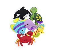 Набор фигурок для купания Морские животные на присосках