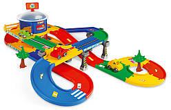 Гараж детский Kid Cars 3D, игровой набор с дорогой 5,5 метра Wader