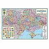 Карта України політико-адміністративна в багеті