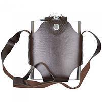 """Фляга подарочная для напитков """"Gift"""" GH180, объем 500 мл, в чехле, фляга - подарок, фляжка металлическая"""