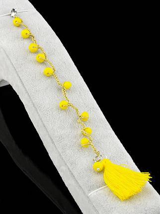 Браслет Чешский хрусталь желтый 2,6 г., фото 2