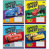 Тетрадь 12 листов в линию 1Вересня Cars Speed Sport, 760439