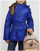 Куртка для девочки  HL 1505 весна-осень, размеры от 110 до 134, синий