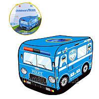 Палатка детская  3753автобус, полиция, 110-71-71 см