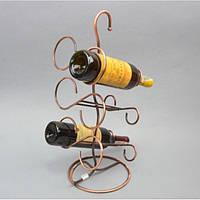 """Бутыльник для хранения напитков """"Grape"""" HX014, размер 53х20 см, на 6 бутылок, металл, подарочный бутыльник, подставка для бутылки"""