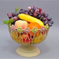 """Фруктовница металлическая для фруктов """"Banana"""" CH200, размер 21x25 см, корзинка для фруктов, ваза под фрукты, посуда для фруктов"""