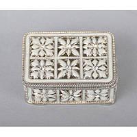 "Шкатулка металлическая для украшений ""Jewellery"" ZB101, размер 3х5.5х4.5 см, мельхиор, шкатулка для драгоценностей, шкатулка для мелочей"