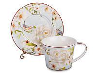 """Фарфоровый чайный набор на 6 персон """"Райский сад"""" 924-256"""