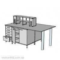 Островной стол на 2 рабочих места ОСТ-9.