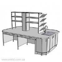 Островной стол на 4 рабочих места СО-3.