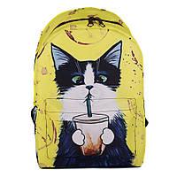 Молодежный оригинальный рюкзак Cool Cat (желтый)