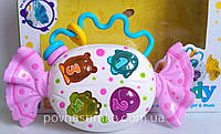 Музыкальная конфетка-трещотка! много музыки,свет, погремушка,16х11см, в коробке, фото 1