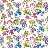 Клеенка на стол ПВХ на нетканой осн.Полевые цветы 1.37х25м