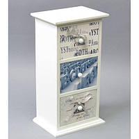 "Комодик - шкатулка деревянная для мелочей ""Soft"" FB025, размер 30х16х12 см, шкатулка для драгоценностей, шкатулка для украшений"