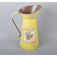 "Вазон - кувшин для цветов ""Blooming Time"" YW643, металл, размер 16х19 см, вазон для комнатных растений, горшок для растений"