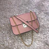 Брендовая маленькая сумка светло розовая