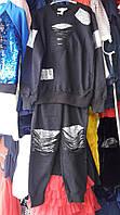 Черный спортивный костюм с пайетками 8-16 лет