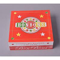 """Коробка деревянная для хранения мелочей """"BONBONS"""" FF057, размер 7х22х22 см, коробка деревянная для дома, коробка из дерева декоративная"""