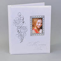 """Фотоальбом картонный для фотографий """"Wedding day"""" AB331, размер 33х27х4 см, на 20 листов, белый, альбом для фото, фото-альбом"""