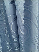 Портьера оптом, для зала и спальни, синяя, фото 1