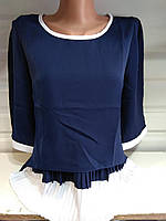Женская шифоновая блуза с рукавом 3/4  р. S,M,L,XL,XXL