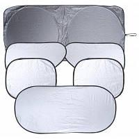 Складная серебряная защита от солнца для окна автомобиля 6 в 1 комплекте Серебристый