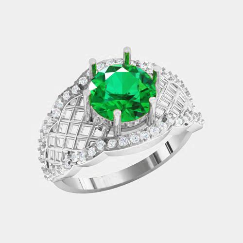 Кольцо  женское серебряное Гармония ВKE-1457
