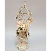 """Подставка для цветов """"Vintage Chic"""" JK1357, металл, 44х12 см, вазон для комнатных растений, горшок для растений"""