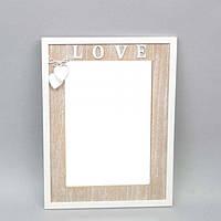 """Зеркало деревянное для декора """"Love"""" FF523, размер 42х32 см, 2 цвета, зеркало декоративное, настенное зеркало"""
