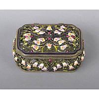 """Шкатулка металлическая для украшений """"Jewy"""" ZB100-1, размер 4х10х7 см, мельхиор, шкатулка для драгоценностей, шкатулка для мелочей"""