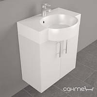 Мебель для ванных комнат и зеркала Fancy Marble Подвесная тумба Fancy Marble Ibiza 60 с раковиной Comfort ШН-612 белая