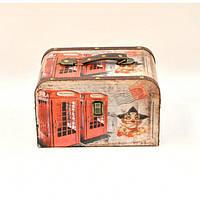 """Сундук деревянный для хранения вещей """"England"""" D0054, в наборе 2 штуки, сундук для декора, сундук для предметов"""