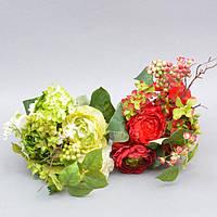 """Композиция цветочная для декора """"Весна"""" SU642, размер 35х20 см, разные цвета, декоративный цветок, искусственное растение"""