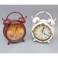 "Часы - будильник для дома ""Old"" XY3032, размер 34x24x8 см, металл, на батарейке, 2 вида, часы для декора, будильник настольный"