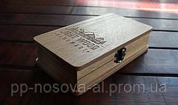 Счетница, расчетница (купюрница) деревянная - Шервуд с логотипом заказчика