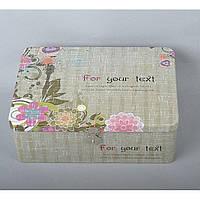 """Комплект шкатулок для хранения мелочей """"Flowers"""" CF387, в комплекте 3 шкатулки, 2 вида, металл, шкатулка под бижутерию, шкатулка металлическая"""