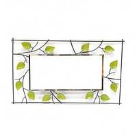 """Зеркало настенное для декора """"Leaves"""" KM3319, металл, 74х43 см, зеркало для оформления интерьера, зеркало декоративное, зеркало в прихожую"""