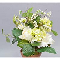 """Композиция цветочная для декора """"Весна"""" SU341-1, размер 35х20 см, разные цвета, декоративный цветок, искусственное растение"""