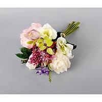 """Композиция цветочная для декора """"Букет"""" SUB039, размер 44х26 см, декоративный цветок, искусственное растение, букет искусственных цветов"""
