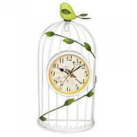 "Часы настенные для декора ""Птичка"" T1708, размер 37х17 см, металл, часы для дома, часы на стену, часы настольные"