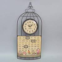 "Часы настенные для декора ""Months"" HT033, размер 60x27 см, c календарем, металл, часы для дома, часы на стену, часы домашние"