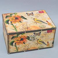 """Шкатулка деревянная для хранения мелочей """"Secret"""" 910135-2, размер 15x25x21 см, шкатулка для мелких вещей, шкатулка под украшения, шкатулка из дерева"""
