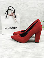 Женские классические туфли (красные), ТОП-реплика, фото 1