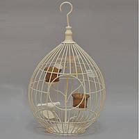 Подсвечник клетка RH813, материал - металл, размер - 46*27 см, декор для дома, декорирование дома, аксессуары для дома