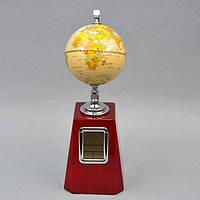 Часы с глобусом для дома и офиса H09098, 31*11 см, дерево, Часы - глобус, Деревянные часы, Часы для офиса, Настольные часы, Оригинальные часы