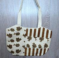 Пляжная, городская сумка с цветочным принтом и полоску