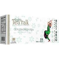 Зелёный пакетированный цейлонский чай English Tea Talk 25 пак