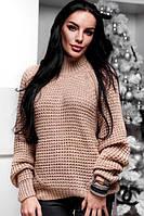 """Вязаный женский свитер с горлом 88"""" Марина """""""