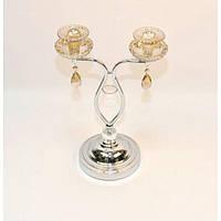 """Подсвечник декоративный для свечей """"Golden Flowers"""" GP421, металл, 43х28 см, подставка для свечи, подсвечник для декора, декор-подсвечник"""
